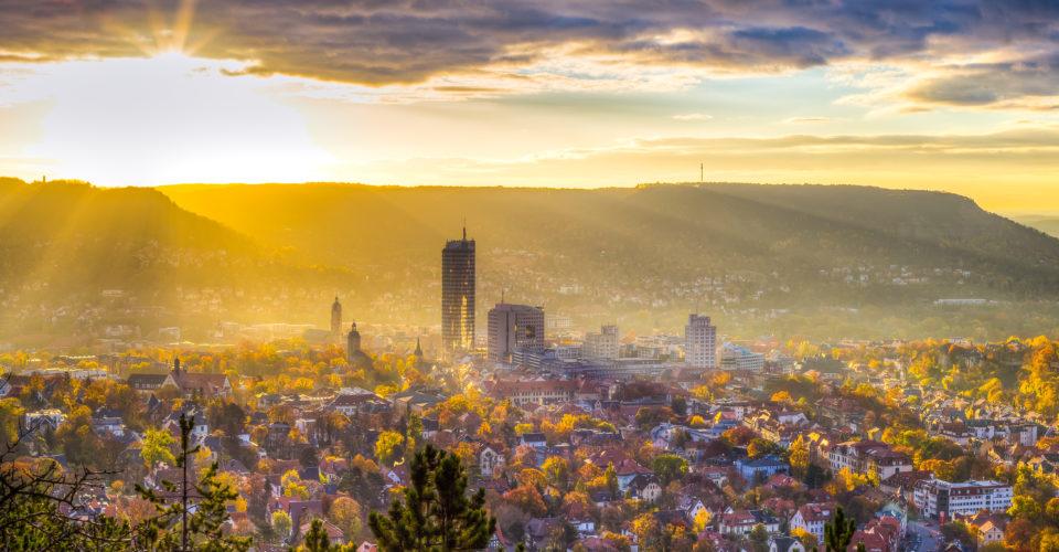 Lichtstadt Jena, Aussicht, Sonne