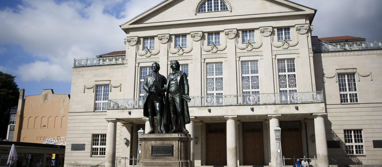 Weimar, Goethe und Schiller Denkmal