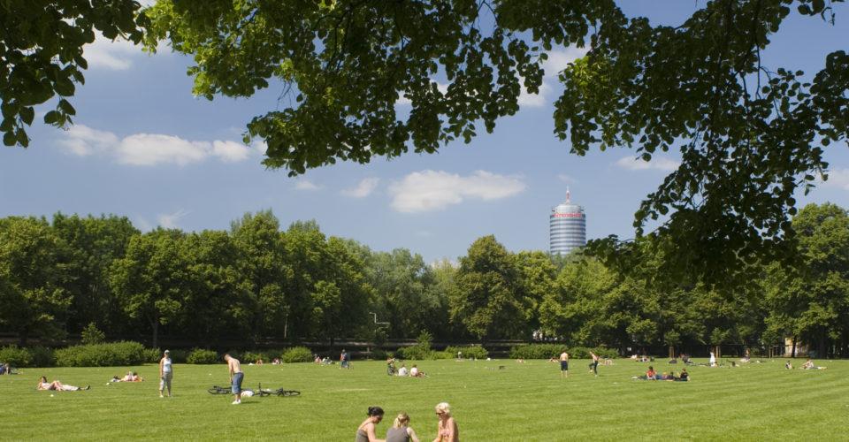 Jena, Paradies, Park, Oberaue, Radmuehleninsel Sonnenbaden Wochenende Freizeit