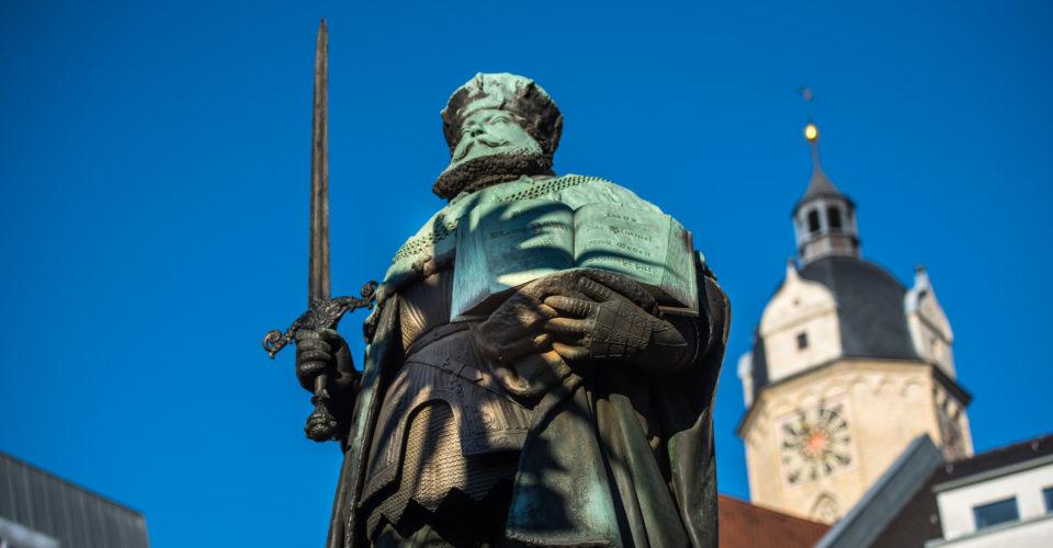 Jena, Hanfried, Denkmal, Kunst, Universitätsgründer, Johann Friedrich Kurfürst von Sachsen
