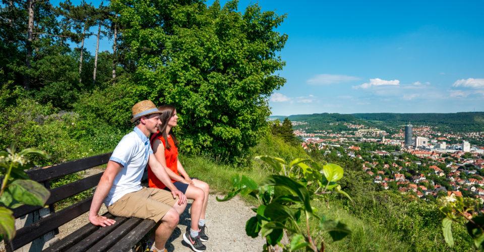 Saalehorizontale Jena, Wandern, Ausblick