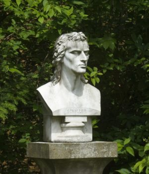 Schillers Garten Jena, Schiller Büste