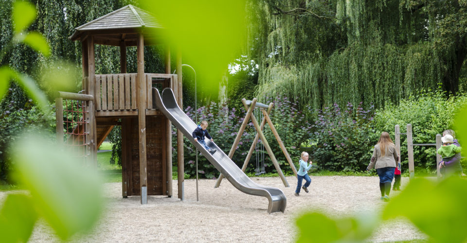 Spielplatz Jena, Paradiespark, Spielflächen