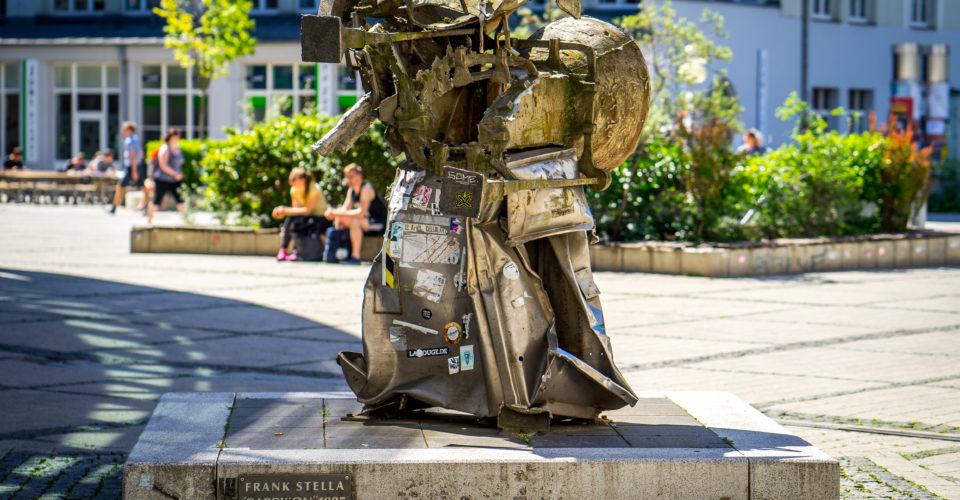 Jena, Stelle Plastiken, Kunst, Denkmal, Campus, Uni