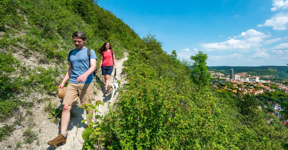 Saalehorizontale Jena, Wandern, Wandersleute